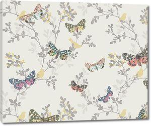 Бабочки в орнаменте