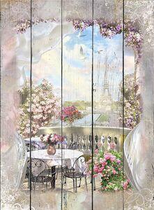 Романтичное кафе с видом на Эйфелеву башню
