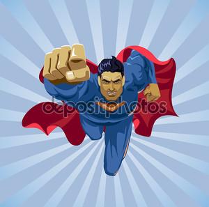 Летающий супергерой
