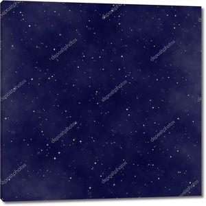 Звездное ночное небо бесшовный фон