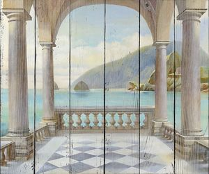 Вид с прекрасного балкона на море