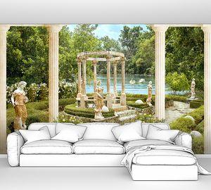 Античный сад со скульптурами