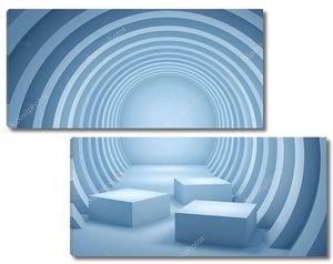 Круглый геометрический тоннель