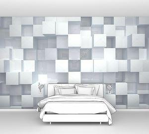 Абстрактный фон из белых глянцевых кубов