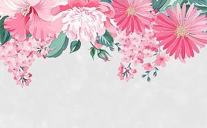 Розовые герберы с гиацинтами