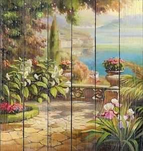 Прекрасная цветочная терраса