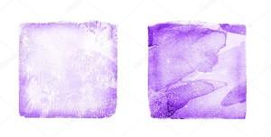 Два акварельных квадрата