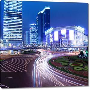 Ночь современного города в Шанхай