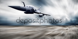 военный аэрофотоснимок на скорости