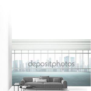 Большое окно в белый кабинет