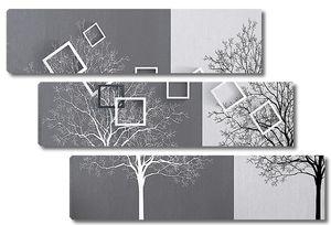 Абстракция из деревьев с квадратами