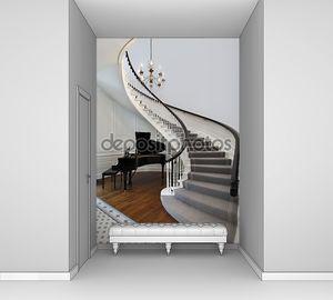 Лестница с фортепиано