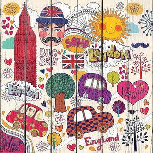 Векторный набор символов, Лондоне и ручной надписи на главное место в городе