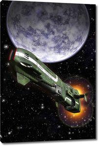 Космический истребитель и планеты