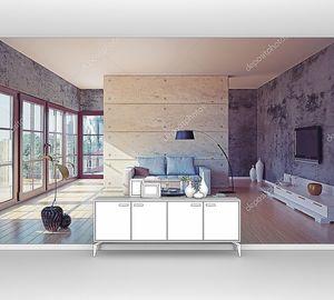 Красивый современный интерьер гостиной