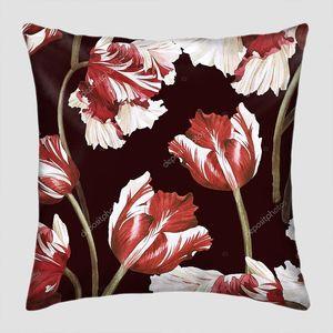 Цветочный узор тюльпанов