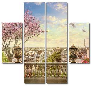 Веранда с видом на Париж