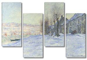 Клод Моне. Лавакур, солнце и снег