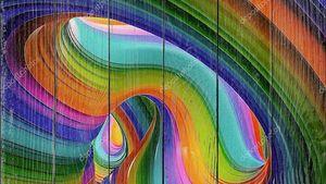 Красочный абстрактный фон из замкнутых линий