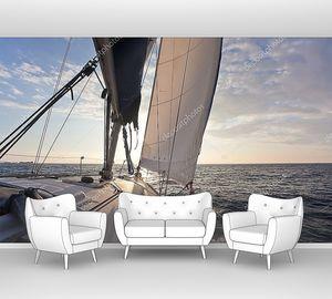 Парусный спорт на яхте в к солнцу