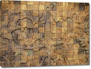 Резные стены скульптура в храм Таиланда плитка