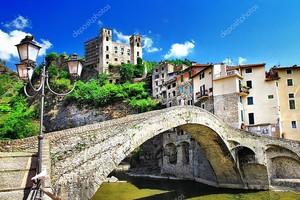 Средневековая деревня в Лигурии