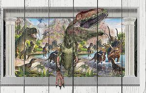 Динозавры между колонн