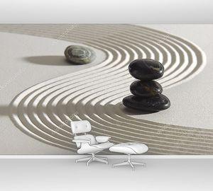 Песок с камнями