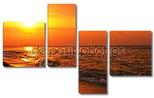 Романтический вид на восход солнца