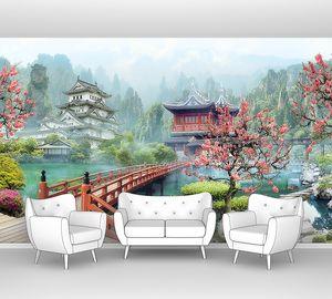 Японский сад утром