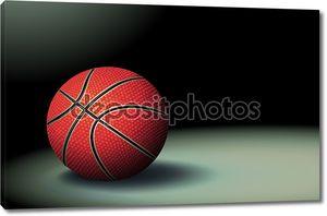 Баскетбольный мяч на черном фоне
