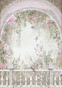 Вид с балкона на райский сад