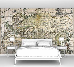 Старинная карта с материками