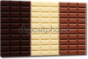 3 сорта шоколада