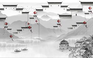 Китайская крепость с фонариками