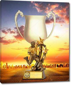 Золотой Кубок на фоне восхода