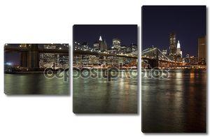 W горизонта Нью-Йорк Бруклинский мост
