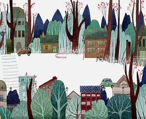 Городок в лесу