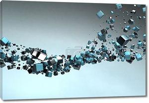 Частицы абстрактный фон кубы