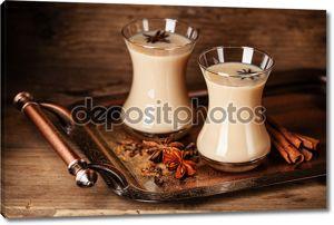 горячий чай с молоком