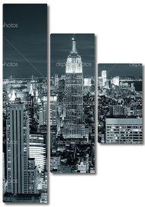 Нью-Йорк Сити Манхэттен вид сверху