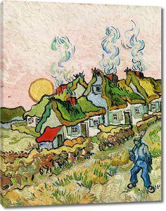 Ван Гог. Соломенные коттеджи на солнце. Воспоминание о севере