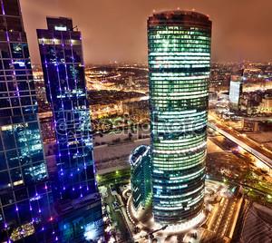 Вид с воздуха на города Москвы