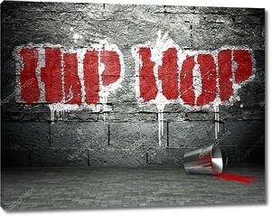 Граффити стена с хип-хопом, уличный фон