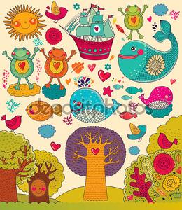 Векторные иллюстрации с животными