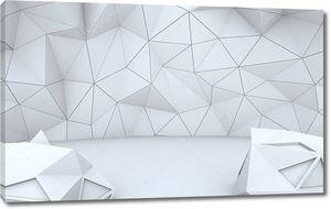 Серый геометрический полигональный узор стены