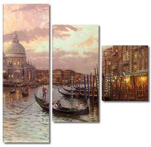 Вечерняя Венеция в огнях