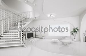 Современный дизайн интерьера гостиной 3d рендера