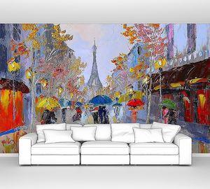 Живописная картина с улицей Парижа