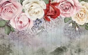 Розы по верху забора